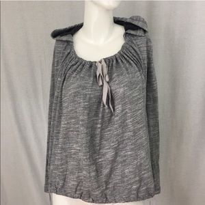 Sz Small Anthro Pure + Good Gray Hooded Sweatshirt